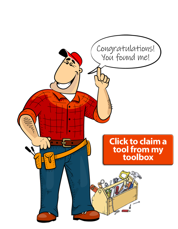 Image of Express Eddie and his Toolbox with Claim button. Click the button to pick out a tool and add it to an order and lock in your entry for the Grand Prize.
